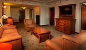 The spacious living area of a one-bedroom Artisan Suite at Disney's Grand Californian Hotel & Spa