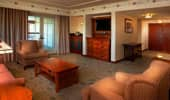 The luxurious living area in a 3-bedroom Artisan Suite