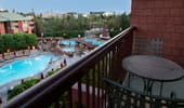 Balcony view of the pools