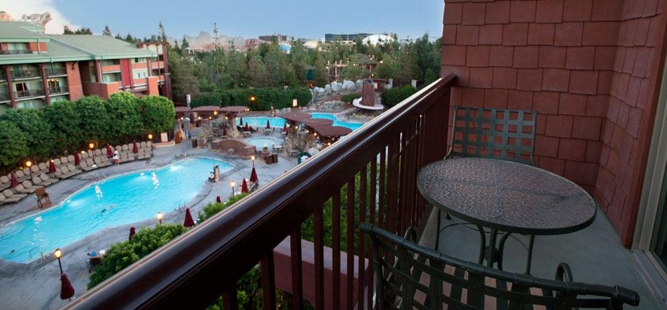 Vista de las piscinas desde el balcón