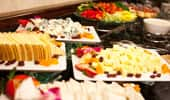 Vegetable trays and cheese plates