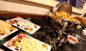 Cheese plates and hot dishes
