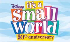 Logo that reads: Disney it's a small world 50th anniversary