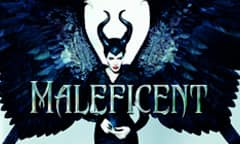 Angelina Jolie clad in dark feathers and horns as the titular character from Disney's Maleficent