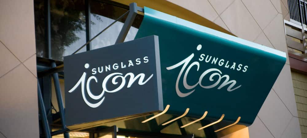 Sign for Sunglass Icon
