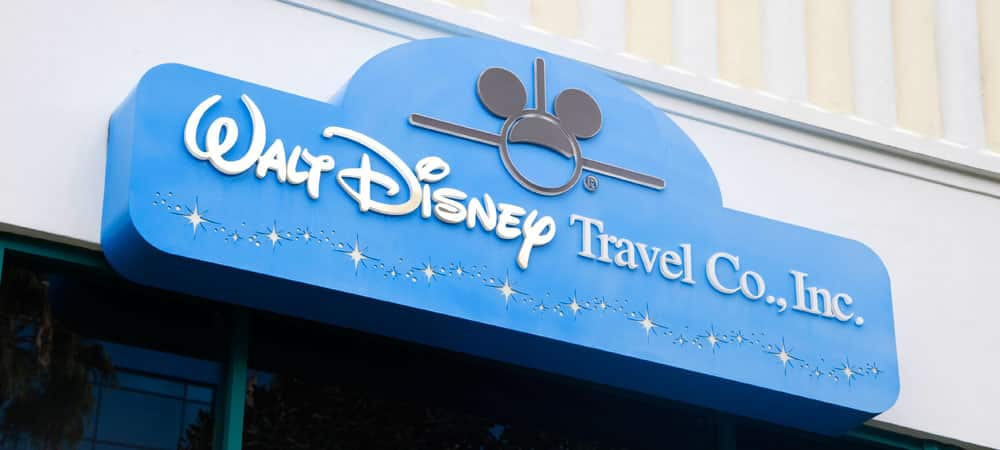 Sign for Walt Disney Travel Company Guest Services