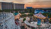 Disney's Paradise Pier Hotel overlooks several attractions at Disney California Adventure Park
