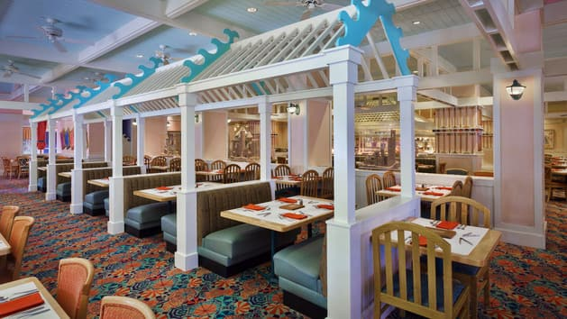 An Indoor Dining Area With Booths At Cape May Cafe