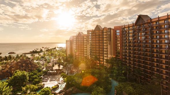 Aulani, Disney Vacation Club Villas, overlooking the Pacific Ocean