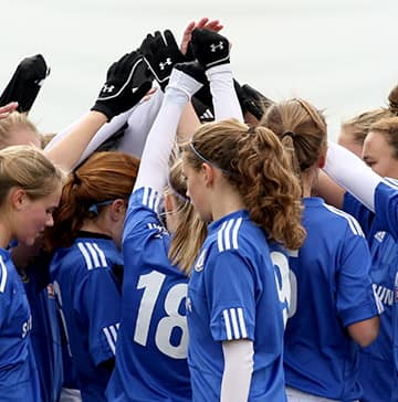 Teen soccer girls