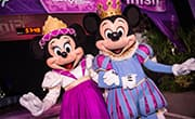 Minnie Mouse and Mickey Mouse at Finish Line