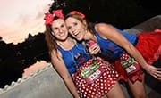 Runners listen to music during their runDisney race at Walt Disney World