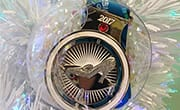 Christmas ornament with Glass Slipper Challenge Medal inside.