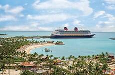 Runners cross the start line of Disney Cruise Line's Castaway Cay 5K for the Disney Castaway Cay Challenge.