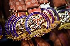 Dopey Challenge medals for Walt Disney World Marathon Weekend.