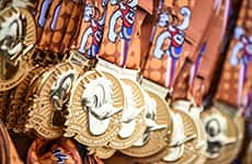 Walt Disney World Half Marathon medals.