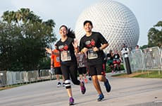 Runners approach the finish line during the Star Wars Rival Run 10K.