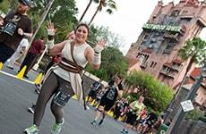 Running through Disney's Hollywood Studios during Star Wars Rival Run Weekend.