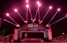 Start line of the Star Wars 10K during Star Wars Half Marathon – The Dark Side race weekend.