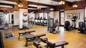 Fitness center at Disney's Grand Californian Hotel & Spa