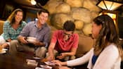 Family of four at Disney's Grand Californian Resort