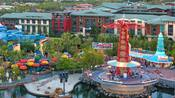 Paradise Pier attractions at Disney California Adventure Park adjacent to Disney's Grand Californian Hotel & Spa