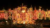 """Thousands of holiday lights illuminate the exterior of """"it's a small world� at Disneyland"""