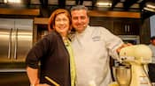 Pam Smith and Buddy Valastro in the kitchen at Epcot