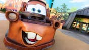 Outdoor statue of tow-truck Mater from the animated Disney•Pixar film 'Cars'