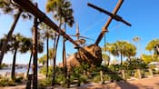 The shipwreck-themed waterslide at Stormalong Bay