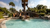 The slide at Stormalong Bay's Kiddie Pool next to the Albatross shipwreck