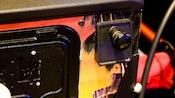 Close-up do cabo de uma máquina de pinball