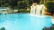 La piscine-grotte agrémentée d'une cascade à l'hôtel WaltDisneyWorldDolphin