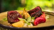 Spiced and roasted beef paired with celery, fruit and potatoes