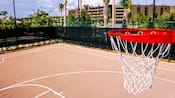 View from the top of a basketball hoop