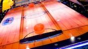 Primer plano de una mesa de hockey de aire