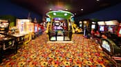 A video game arcade in Disney's Pop Century Resort