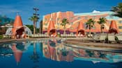 La enorme área de la piscina en Disney's Art of Animation Resort