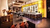 View of Il Mulino Lounge inside Il Mulino New York Trattoria at Walt Disney World Swan Hotel