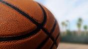 Uma bola de basquete