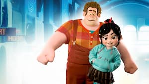 An animation of Wreck-It Ralph and Vanellope Von Schweetz