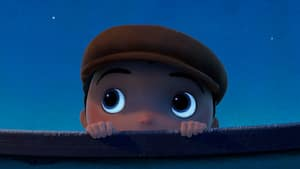 Bambino, the little boy from Disney Pixars short La Luna, peers up at the night sky