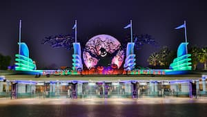 Oogie Boogie during Halloween Time at the California Adventure entrance
