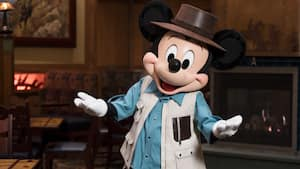 Mickey Mouse dressed in his Animal Kingdom attire