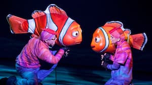 Puppeteers bring Disney•Pixar characters to life during a performance of Finding Nemo - The Musical