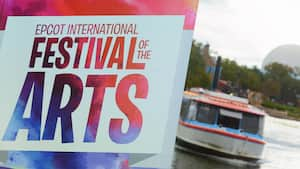 A sign that reads Epcot International Festival of the Arts