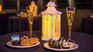 An assortment of sweet treats at the Fireworks Dessert Party with Plaza Garden Viewing