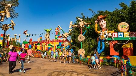 Rendering of Toy Story Land, coming soon to Walt Disney World Resort