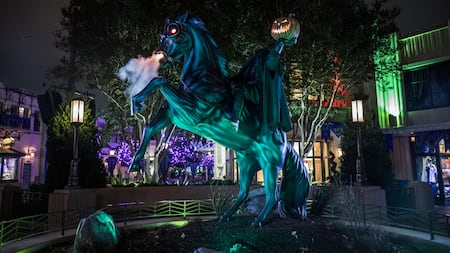 The Headless Horseman at Halloween Time at Disneyland Resort