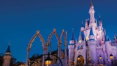 Cinderella Castle at dusk